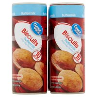 Great Value Buttermilk Biscuits, 10 count, 7.5 oz, 4 pack