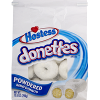 Hostess Donettes Powdered Mini Donuts 10.5 Oz, 20 Count