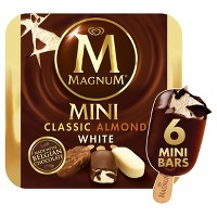 Magnum Mini Ice Cream Bars Classic/Almond/White - 6ct