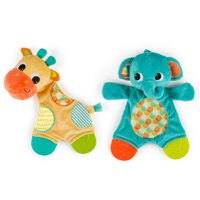 Bright Starts Snuggle & Teethe Plush Teether Toy - Assortment, Ages Newborn +