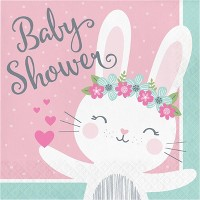48ct Bunny Print Baby Shower Disposable Napkins