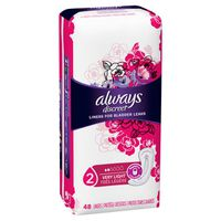 Always Incontinence and Postpartum Liners, Very Light Absorbency