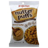 popchips Puffed Snack, with Real Peanut Butter, Peanut Butter