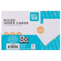 "Pen + Gear Ruled Index Cards 4""x6"" White 100 Count"