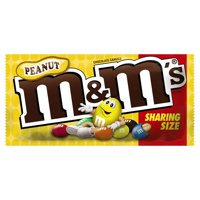 M&M'S Peanut Candy, 3.27 oz. Share Size Bag (Packaging Design May Vary)