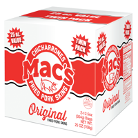 Mac's Original Pork Skins Box, 25 oz