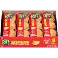 RITZ Cheese Sandwich Crackers, 8 - 1.35 oz Packs