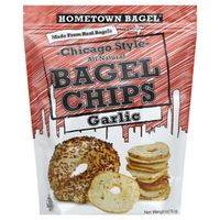 Hometown Bagel Chicago Style Bagel Chips Garlic