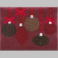 """""""Merry Christmas"""" Decorations Greeting Card Maroon - PAPYRUS"""