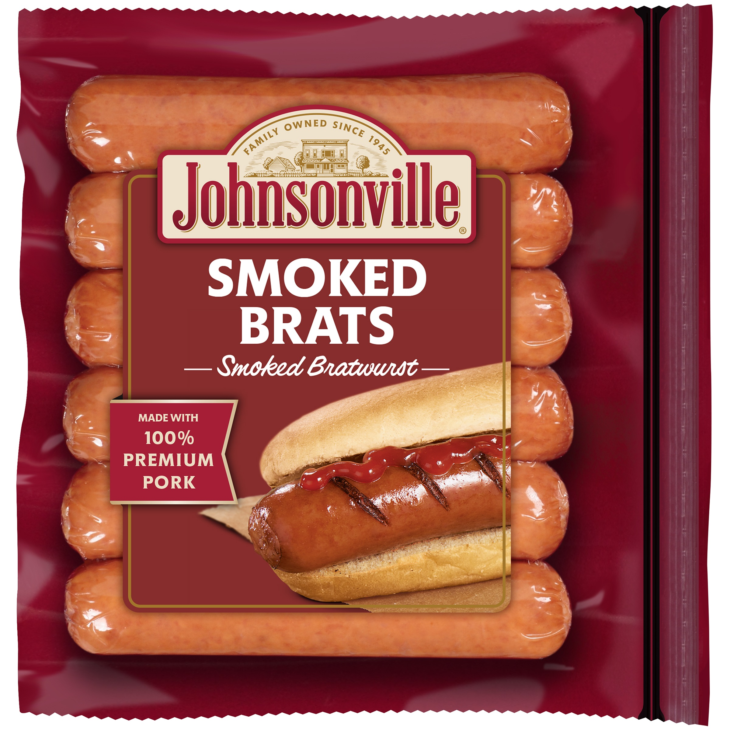Johnsonville Smoked Brats 6 Count, 14 oz
