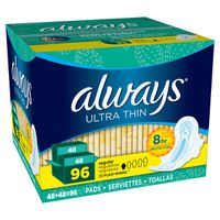 Always Regular Ultra Thin with Flexi-Wings, 96 ct