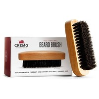 Cremo Premium Boar Bristle Beard Brush with Wood Handle - Shaping & Styling - 1ct