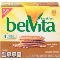 belVita Golden Oat Breakfast Biscuits, 5 Packs (4 Biscuits Per Pack)