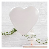 3ct Large Heart Pattern Balloons Pink