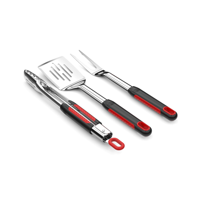 Expert Grill Soft Grip 3 Piece Barbecue Grill Tool Set