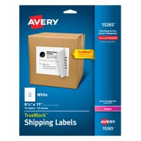 Avery Internet Shipping Labels, 8-1/2' x 11', 10 Labels (15265)