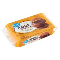 Great Value Fudge-Covered Peanut Butter-Filled Cookies, 9.5 oz
