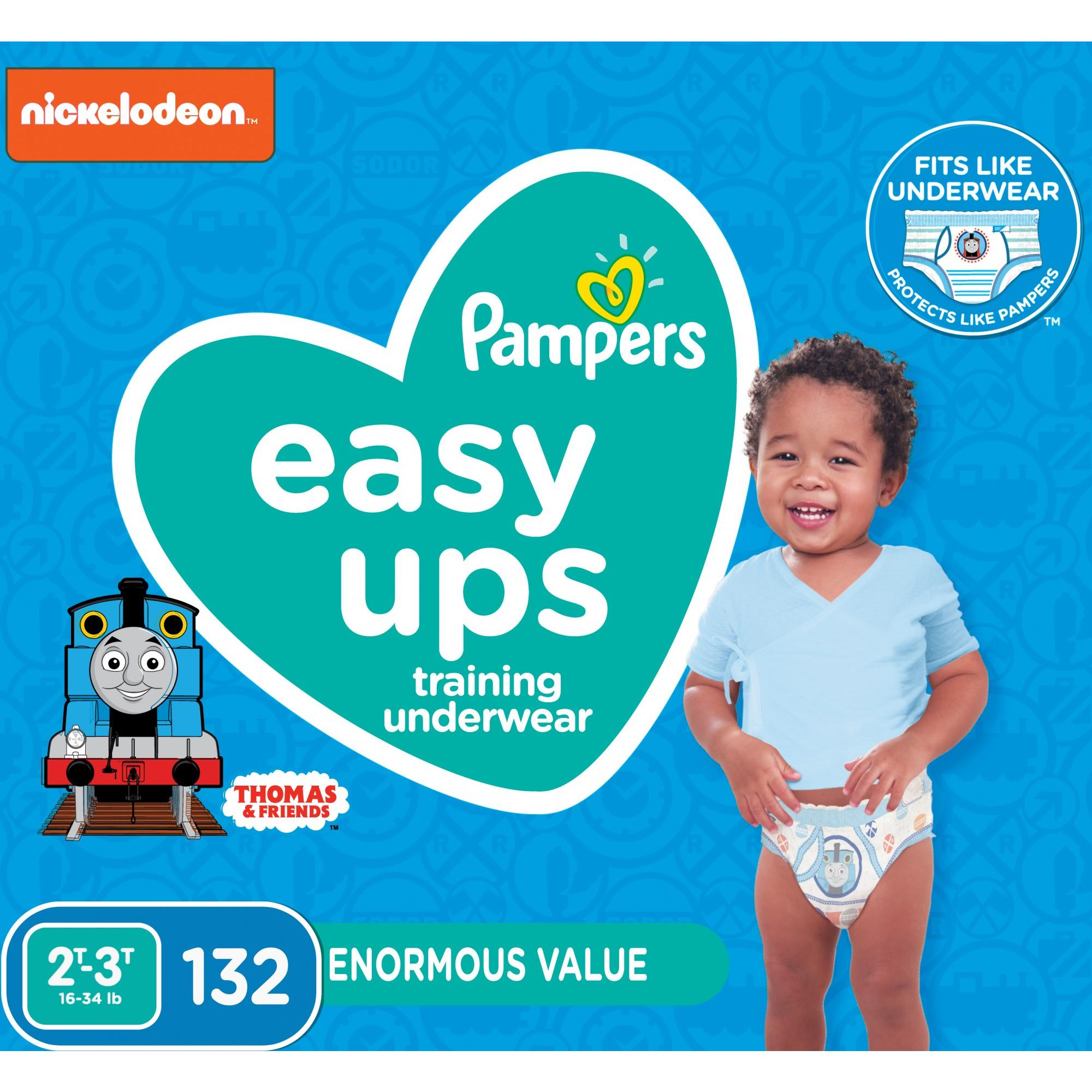 Pampers Easy Ups Training Underwear Boys, 2T-3T, 132 Ct