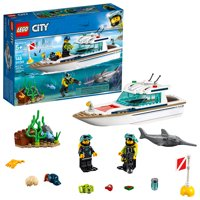LEGO City Great Vehicles Diving Yacht 60221 Ship Model Toy and Diving Figures