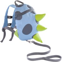 On the Goldbug Toddler Child Safety Security Harness and Monster Backpack, Blue