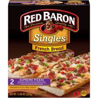 Red Baron French Bread Singles Supreme Pizzas