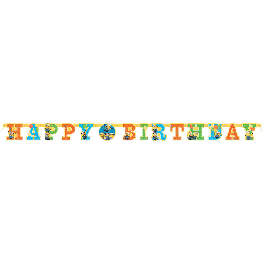 Despicable Me Minions Birthday Banner, 6ft