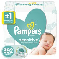 Pampers Sensitive Baby Wipes, 7X Pop-top Packs, 392 Ct