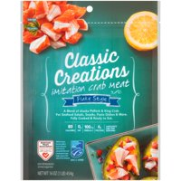 Classic Creation Flake Style Imitation Crab Meat, 16 oz