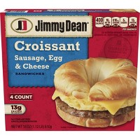 Jimmy Dean Sausage Egg & Cheese Frozen Croissant Sandwiches - 4ct