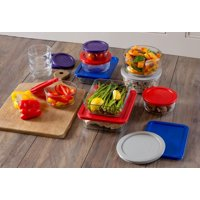 Pyrex Simply Store Glass Bakeware Set, 24 Piece