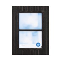 """Mainstays 2-Opening 5"""" x 7"""" Timbermound Picture Frame, Distressed Black/Brown"""