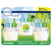 Febreze Odor-Eliminating Plug Air Freshener Refill, Gain Original Scent, 3 Ct