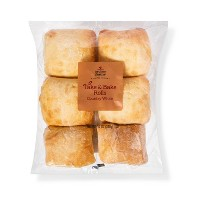 Take & Bake Country White Rolls - 6ct - Archer Farms™