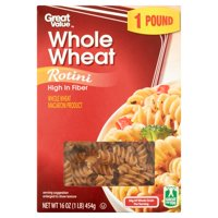 Great Value Whole Wheat Rotini, 16 oz