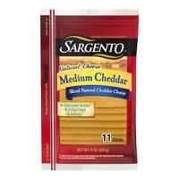 Sargento® Sliced Medium Natural Cheddar Cheese, 11 slices