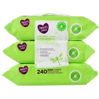 Parent's Choice Cucumber Scent Baby Wipes, 3 packs of 80 (240 count)