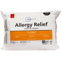 Mainstays Allergy Relief Hypoallergenic Polyester Fiberfill Firm Support Pillow