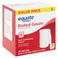 Equate Rolled Gauze, Value Pack, 5 Count