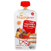 Happy Baby Hearty Meals Vegetable & Beef Medley with Quinoa Organic Baby Food