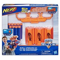 Nerf Shell Upgrade Kit - Includes 3 Shells, 9 Official Nerf Elite Darts, Shell Holder - Walmart Exclusive
