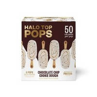 Halo Top Pops Chocolate Chip Cookie Dough Ice Cream Bars - 12oz/6ct
