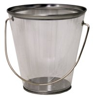 Tin Pail with Handle - Clear and See Thru