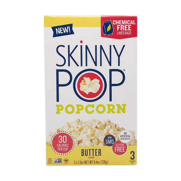 Skinnypop popcorn Microwave Butter Popcorn 3 Count, 8.4 oz