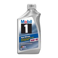 Mobil 1 High Mileage Full Synthetic Motor Oil 10W-40, 1 Quart