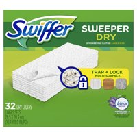 Swiffer Sweeper Dry Sweeping Pad Refills, Febreze Lavender Scent, 32 count