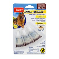 Hartz UltraGuard Dual Action Flea & Tick Topical for Extra Large Dogs, 3 Monthly Treatments