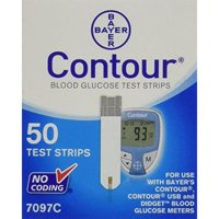 Bayer Contour Blood Glucose Test Strips, 50 Ct