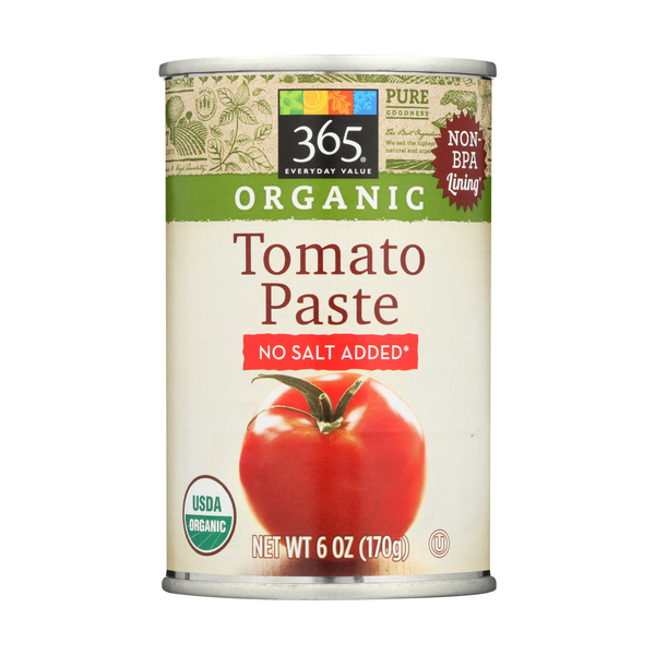 365 Everyday Value® Tomato Paste, Organic, No Salt Added, 6 Oz.