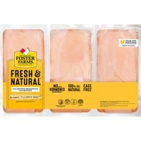Foster Farms Fresh & Natural Saddle Pack Chicken Breasts - 2.54-4.92lbs - priced per lb