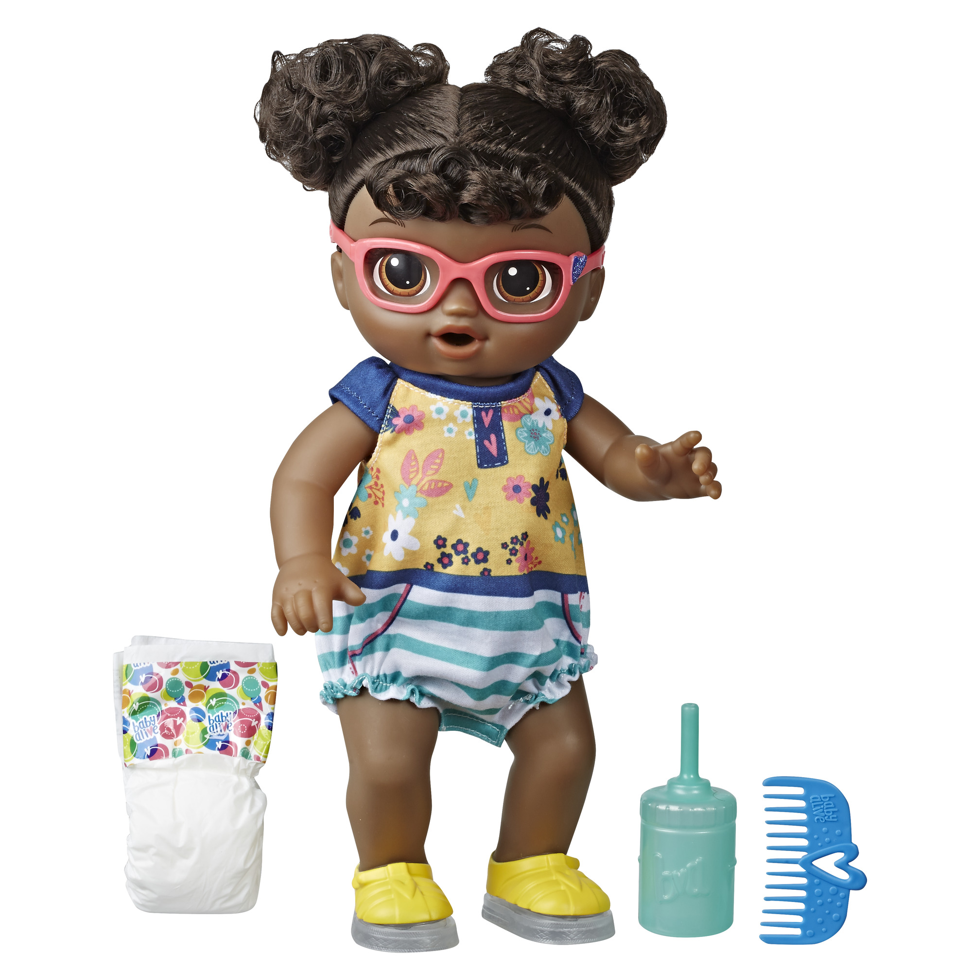 Baby Alive Step 'n Giggle Baby (Black Hair), for Ages 3 and Up